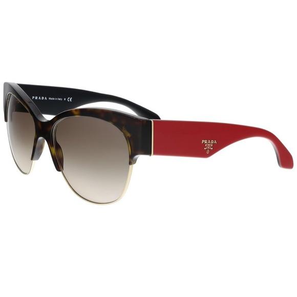 86c1dcdac6b9 Prada Sunglasses Havana Red w  Grey Lens